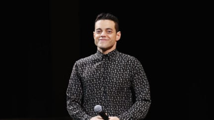 NEW YORK, NEW YORK - APRIL 28: Rami Malek attends Tribeca Talks - A Farewell To Mr. Robot - 2019 Tribeca Film Festival at Spring Studio on April 28, 2019 in New York City. (Photo by Nicholas Hunt/Getty Images for Tribeca Film Festival)