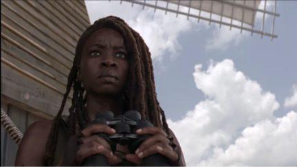 danai gurira as michonne in season 10 of the walking dead