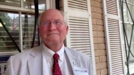 Bill Waller smiles as he talks about discriminating based on gender.