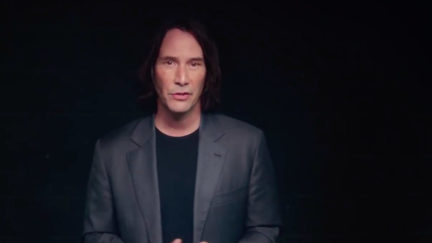 Keanu Reeves in a promotional video for Already Gone