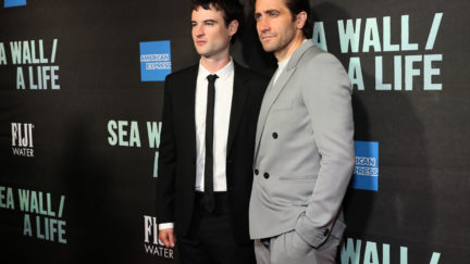 Jake Gyllenhaal and Tom Sturridge at Sea Wall/A Life