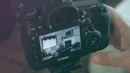 Canon DSLR camera.