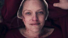 Elisabeth Moss as June in the season 3 finale of Hulu's The Handmaid's Tale.