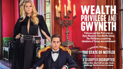 Gywneth Paltrow on the cover of The Hollywood Reporter.