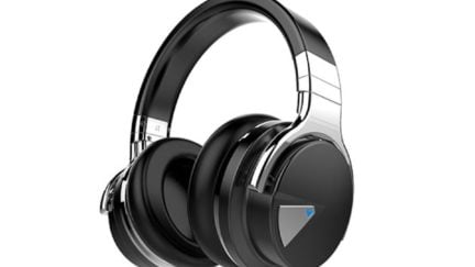 A product image of wireless headphones.
