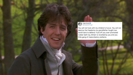 Hugh Grant drags Boris Johnson on Twitter