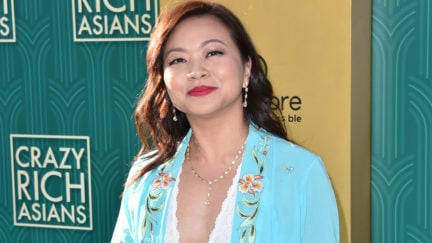 Adele Lim on the red carpet at the Crazy Rich Asians premiere.
