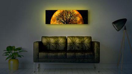 Backlit wall art product image.