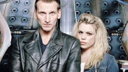 Christopher Eccleston and Billie Piper on Doctor Who