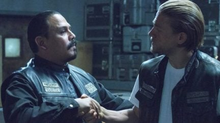 Charlie Hunnam and Emilio Rivera in Sons of Anarchy (2008)