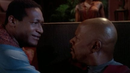 Avery Brooks and Tony Todd in The Visitor DS9