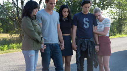 the core four and shannen doherty in riverdale