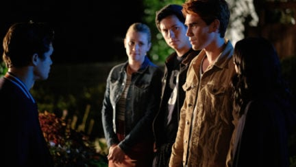 Archie faces down moose in riverdale