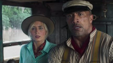 the Rock and Emily Blunt star in Jungle Cruise from Disney.
