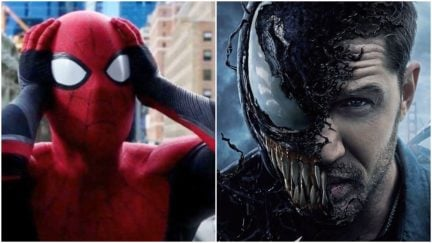 Spider-Man (Tom Holland) and Venom (Tom Hardy) could team up in a future film.