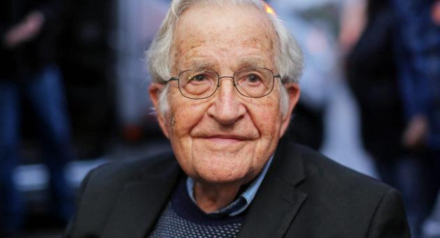 US linguist and political activist Noam Chomsky.