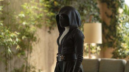 Regina King as masked cop angela abar in Watchmen