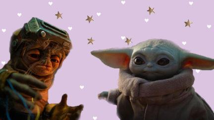 Babu Frik and Baby Yoda