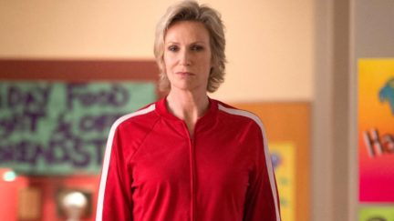 GLEE, Jane Lynch in 'Puppet Master' (Season 5, Episode 7, aired November 28, 2013). ph: Eddy Chen/TM and Copyright ©20th Century Fox Film Corp. All rights reserved./courtesy Everett Collection