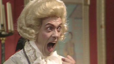Hugh Laurie as Prince George in Blackadder