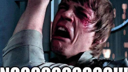 Luke Skywalker saying NOOOO