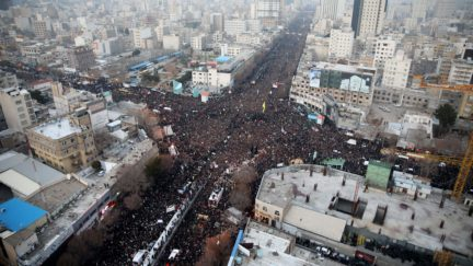 iran funeral procession for assassainted general soleimani