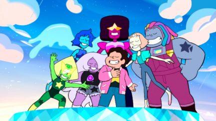 Steven Universe Future theme song still.