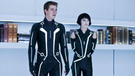 Olivia Wilde and Garrett Hedlund in Tron (2010)