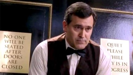 Bruce Campbell in Spider-Man 2.