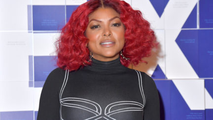 NEW YORK, NEW YORK - MARCH 06: Taraji P. Henson and American Express Launch #ExpressThanks Pop Up Cafe at Grand Central Station on March 06, 2020 in New York City. (Photo by Michael Loccisano/Getty Images,)
