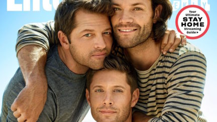 misha collins jensen ackles jared padalecki on the cover of entertainment weekly