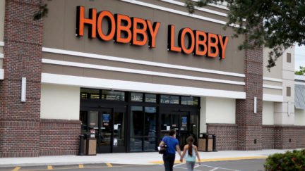 A Hobby Lobby storefront.
