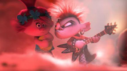 two trolls fighting via guitar