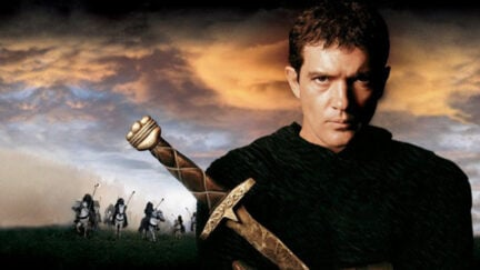 antonio banderas in the the 13th warrior. TOuchstone pictures.