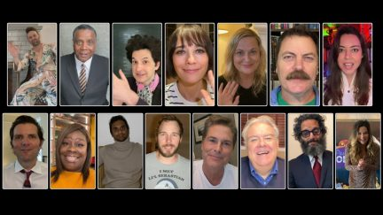 The Cast of Park and Recreation from a Parks And Recreation Special