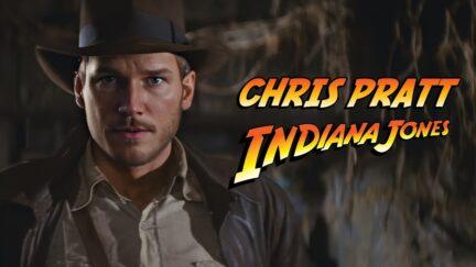 Chris Pratt Indiana Jones deepfake.
