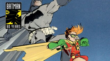 the dark knight rises old man Batman and Carrie Kelley robin