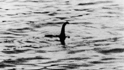 A view of the Loch Ness Monster, near Inverness, Scotland, April 19, 1934. The photograph, one of two pictures known as the 'surgeon's photographs,' was allegedly taken by Colonel Robert Kenneth Wilson, though it was later exposed as a hoax by one of the participants, Chris Spurling, who, on his deathbed, revealed that the pictures were staged by himself, Marmaduke and Ian Wetherell, and Wilson. References to a monster in Loch Ness date back to St. Columba's biography in 565 AD. More than 1,000 people claim to have seen 'Nessie' and the area is, consequently, a popular tourist attraction. (Photo by Keystone/Getty Images)
