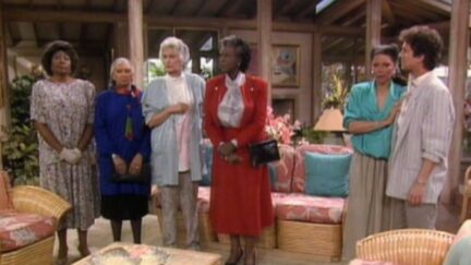 Bea Arthur, Virginia Capers, Rosalind Cash, Montrose Hagins, Lynn Hamilton, and Scott Jacoby in The Golden Girls (1985)