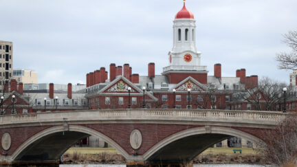 CAMBRIDGE, MASSACHUSETTS - MARCH 23: The Harvard University campus is shown on March 23, 2020 in Cambridge, Massachusetts. Students were required to be out of their dorms no later than March 15 and finish the rest of the semester online due to the ongoing COVID-19 pandemic. (Photo by Maddie Meyer/Getty Images)