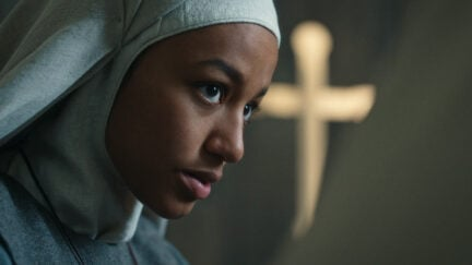 CURSED (L to R) SHALOM BRUNE-FRANKLIN as SISTER IGRAINE in episode 103 of CURSED Cr. COURTESY OF NETFLIX © 2020