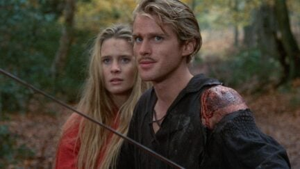 Westley and Princess Buttercup in the Princess Bride
