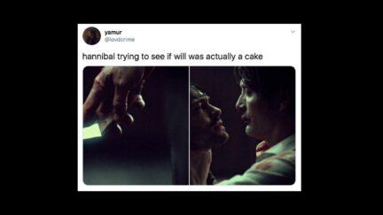 Hannibal fandom has great cake memes