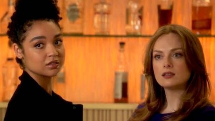 Kat and Eva at the bar in Freeform's The Bold Type.