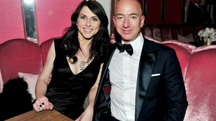 Amazon Studios Oscar After-Party WEST HOLLYWOOD, CA - FEBRUARY 26: (L-R) CEO of Amazon Jeff Bezos and writer MacKenzie Bezos attend the Amazon Studios Oscar Celebration at Delilah on February 26, 2017 in West Hollywood, California. (Photo by Jerod Harris/Getty Images)