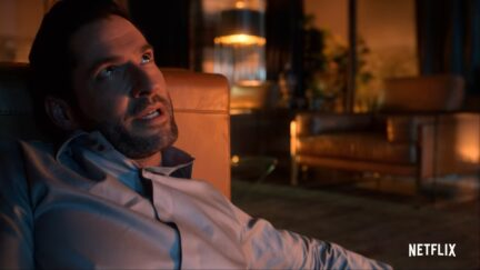 tom ellis looks angry and hot in lucifer
