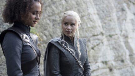 Nathalie Emmanuel and Emilia Clarke in Game of Thrones (2011)