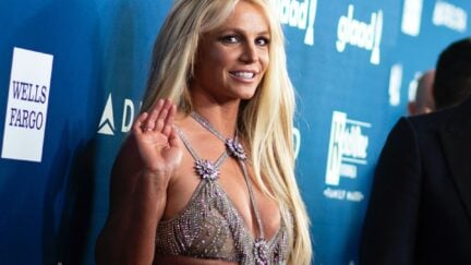 ENTERTAINMENT-US-GLAAD-MEDIA-AWARDS Singer Britney Spears attends the 29th Annual GLAAD Media Awards at the Beverly Hilton on April 12, 2018 in Beverly Hills, California. / AFP PHOTO / VALERIE MACON (Photo credit should read VALERIE MACON/AFP via Getty Images)