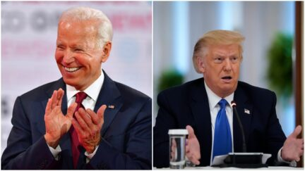 Joe biden smile trump trumps