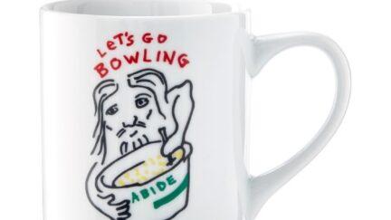 Big Lebowksi mug with The Dude designed by Jeff Bridges for Williams Sonoma.